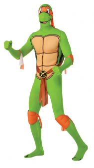 TEENAGE MUTANT NINJA TURTLES SECOND SKIN - MICHELANGELO EXTRA LARGE